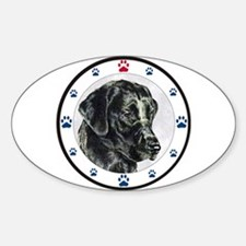 Labrador Retriever Dog Paws Oval Decal