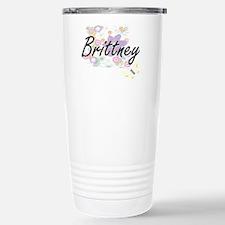 Brittney Artistic Name Travel Mug
