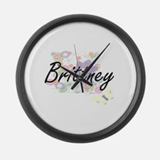 Brittney Artistic Name Design wit Large Wall Clock