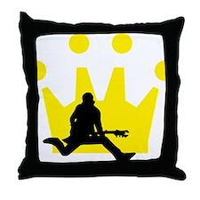 Cute Air guitarist Throw Pillow