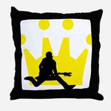 Cool Air guitar Throw Pillow