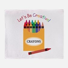 Lets Be Creative Throw Blanket