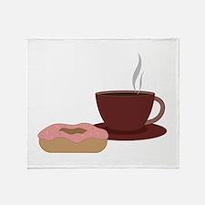 Coffee & Donut Throw Blanket