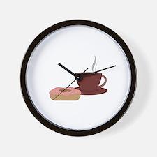 Coffee & Donut Wall Clock