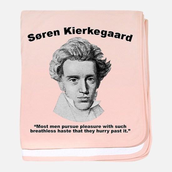 Kierkegaard Pleasure baby blanket