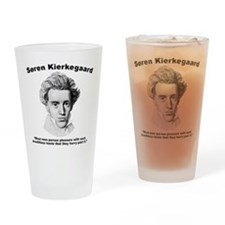 Kierkegaard Pleasure Drinking Glass