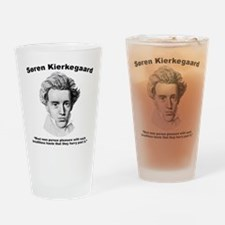 Kierkegaard Pleasure Drinking Glass