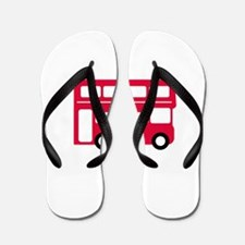 Big Red Bus Flip Flops