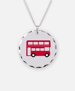 Big Red Bus Necklace