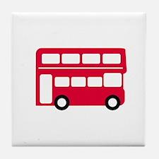 Big Red Bus Tile Coaster