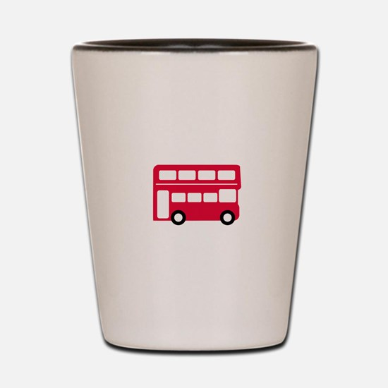 Big Red Bus Shot Glass