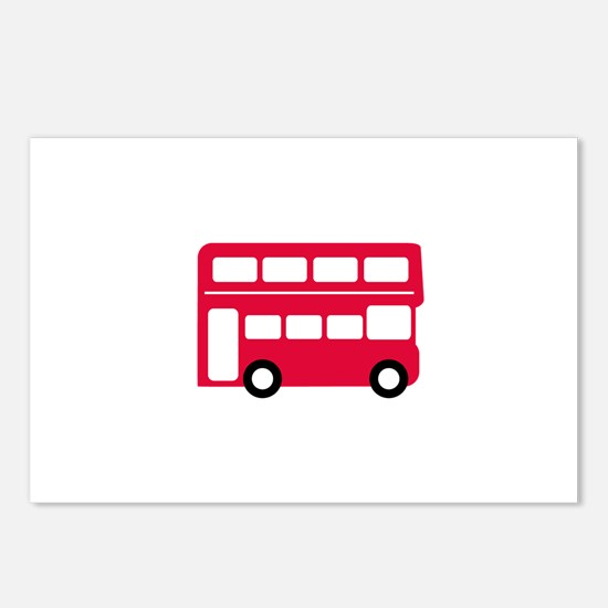 Big Red Bus Postcards (Package of 8)