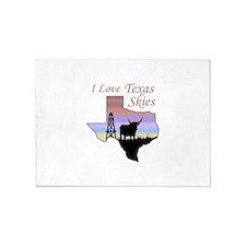Love Texas Skies 5'x7'Area Rug