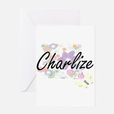 Charlize Artistic Name Design with Greeting Cards