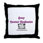 Sexy Dental Hygienist Throw Pillow