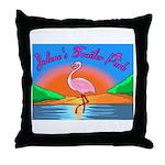 JolenesTrailerPark Sunset Log Throw Pillow