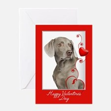 Love You More! Weimaraner Greeting Cards