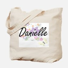 Danielle Artistic Name Design with Flower Tote Bag