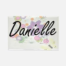 Danielle Artistic Name Design with Flowers Magnets