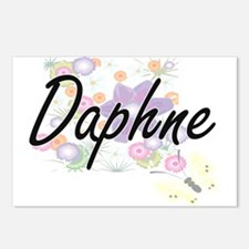 Daphne Artistic Name Desi Postcards (Package of 8)