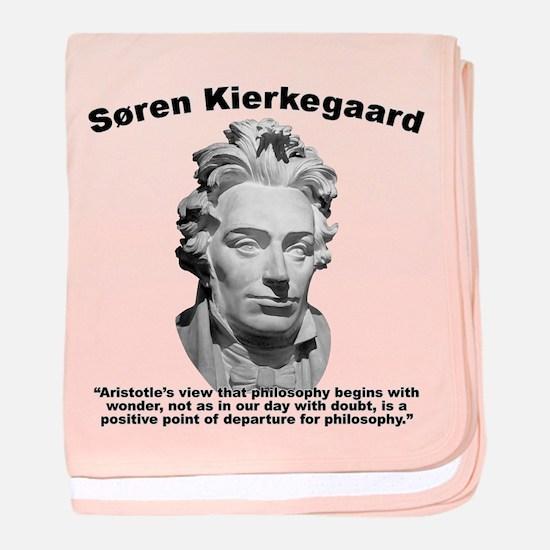 Kierkegaard Philosophy baby blanket