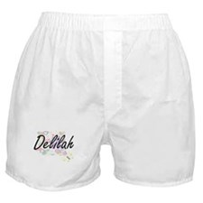 Delilah Artistic Name Design with Flo Boxer Shorts
