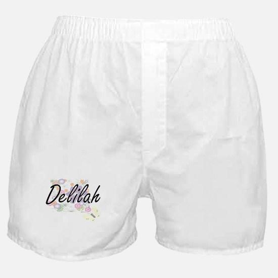 Delilah Artistic Name Design with Flo Boxer Shorts