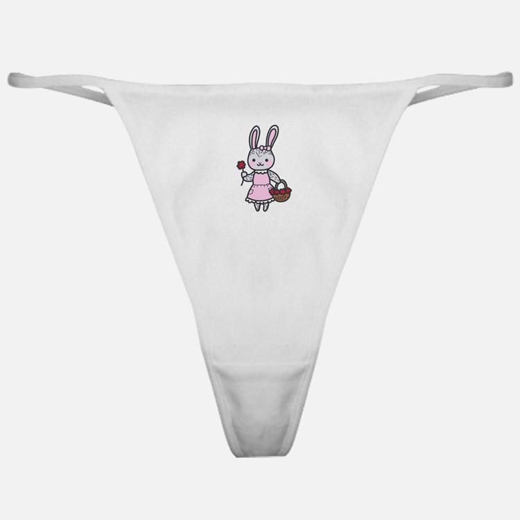 Bunny With Flowers Classic Thong