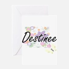Destinee Artistic Name Design with Greeting Cards