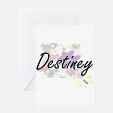 Destiney Artistic Name Design with Greeting Cards