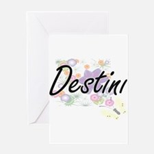 Destini Artistic Name Design with F Greeting Cards