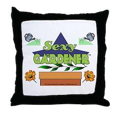 Sexy Gardener Throw Pillow