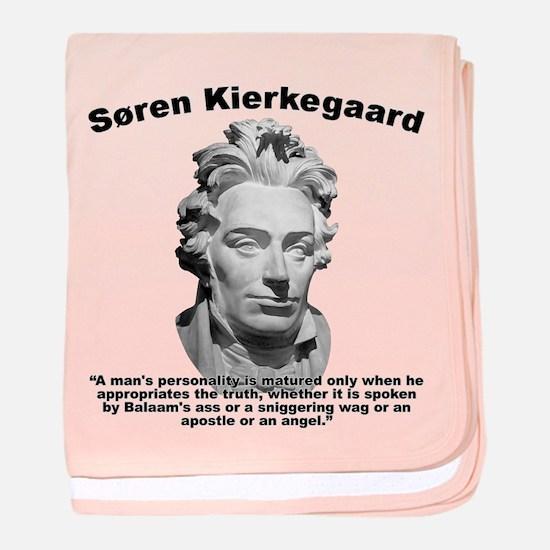Kierkegaard Personality baby blanket