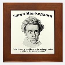 Kierkegaard Life Framed Tile