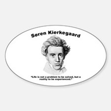 Kierkegaard Life Sticker (Oval)