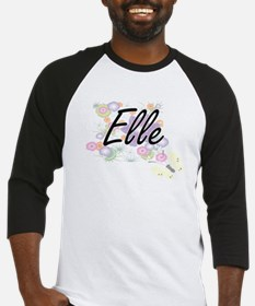 Elle Artistic Name Design with Flo Baseball Jersey