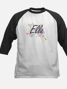 Elle Artistic Name Design with Flo Baseball Jersey