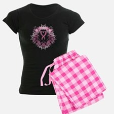 Survivor Pink Heart Ribbon Women's Dark Pajama