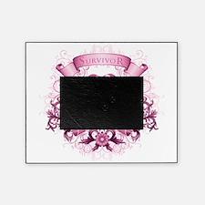 Breast Cancer Survivor Ribbon Picture Frame