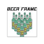 Beer Frame Square Sticker 3