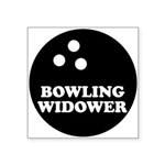 Bowling Widower Square Sticker 3