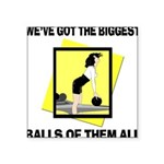 Biggest Balls Bowling Square Sticker 3