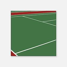 """Tennis Court Square Sticker 3"""" x 3"""""""