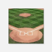 "Baseball Diamond Square Sticker 3"" x 3"""