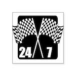 Racing 24/7 Square Sticker 3