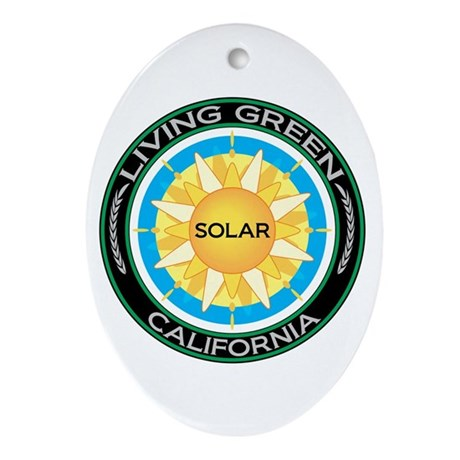 Living Green California Solar Energy Ornament (Ova