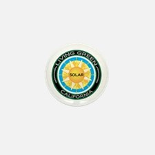Living Green California Solar Energy Mini Button