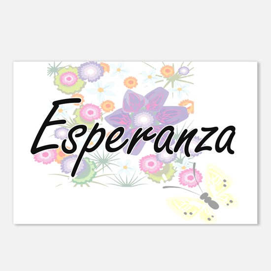 Esperanza Artistic Name D Postcards (Package of 8)