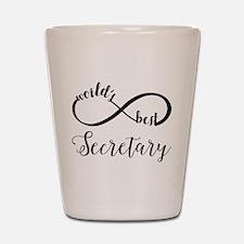 World's Best Secretary Shot Glass