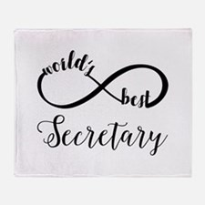 World's Best Secretary Throw Blanket